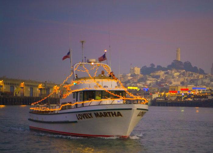 SF Holiday lights boat parade
