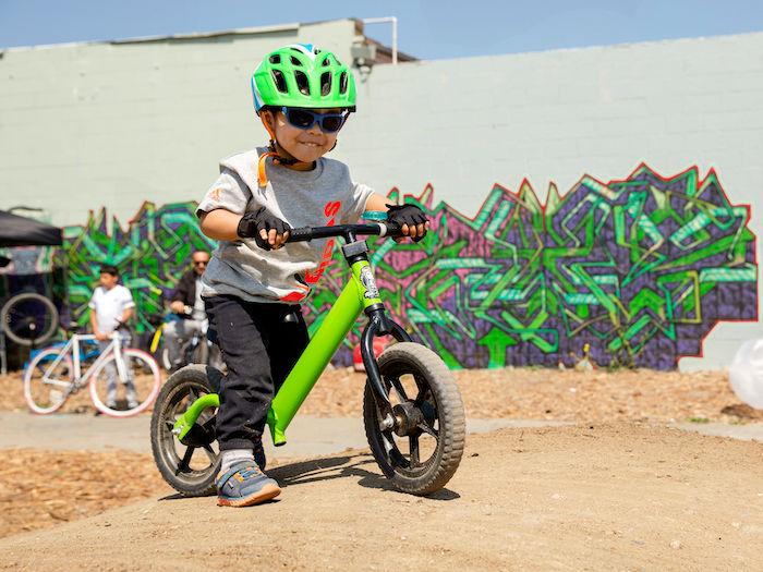 small dirt bike rider