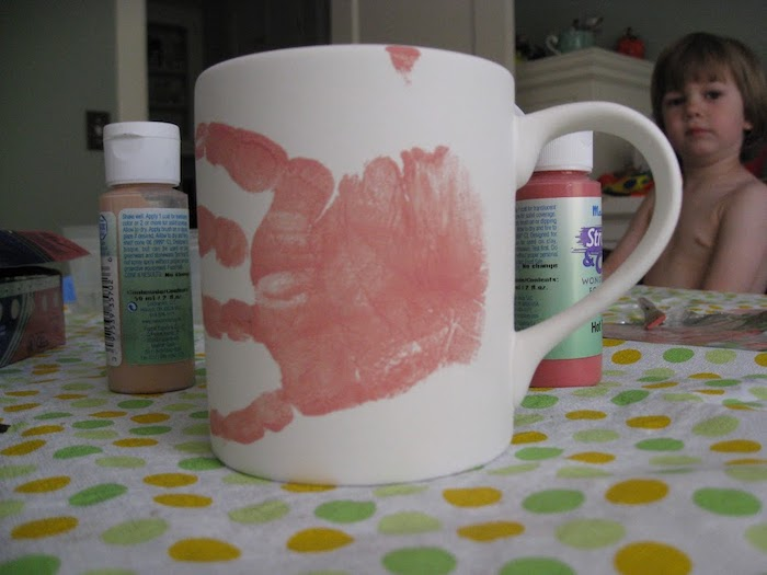 Paint a keepsake project at home