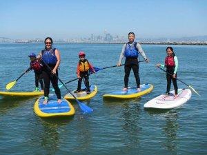 paddleboarding in alameda