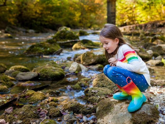 girl near creek