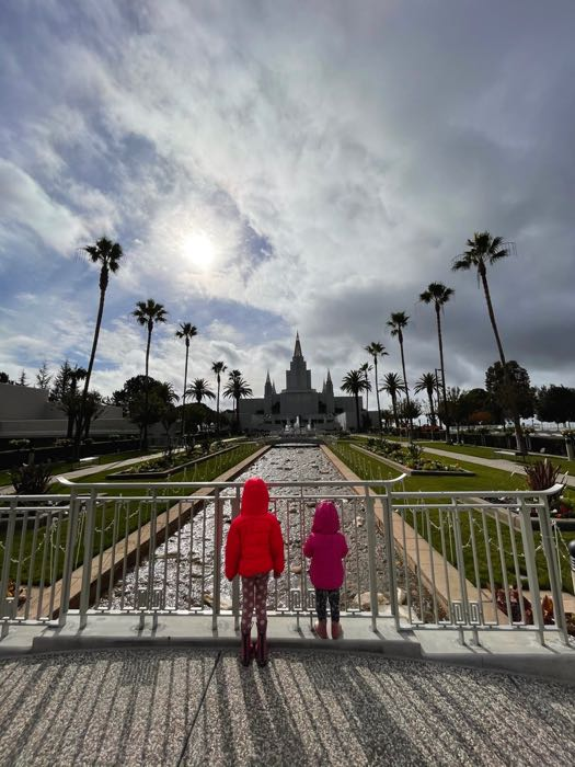 Get your calm on at the Oakland California Temple gardens | Photo: Julia Gidwani