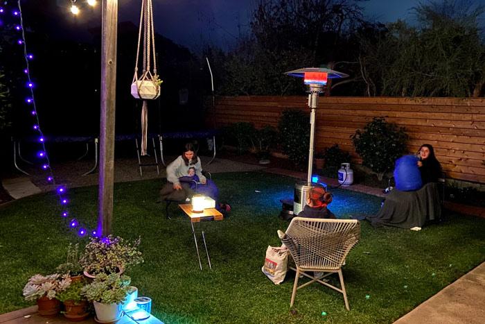 backyard heat lamp