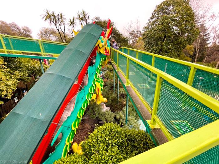 The giant dragon slide is open. | Photo: Julia Gidwani