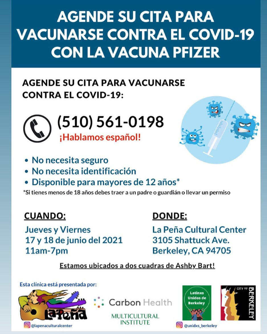 ad for free vaccines in spanish