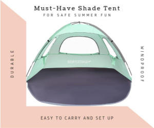 ad for shade tent