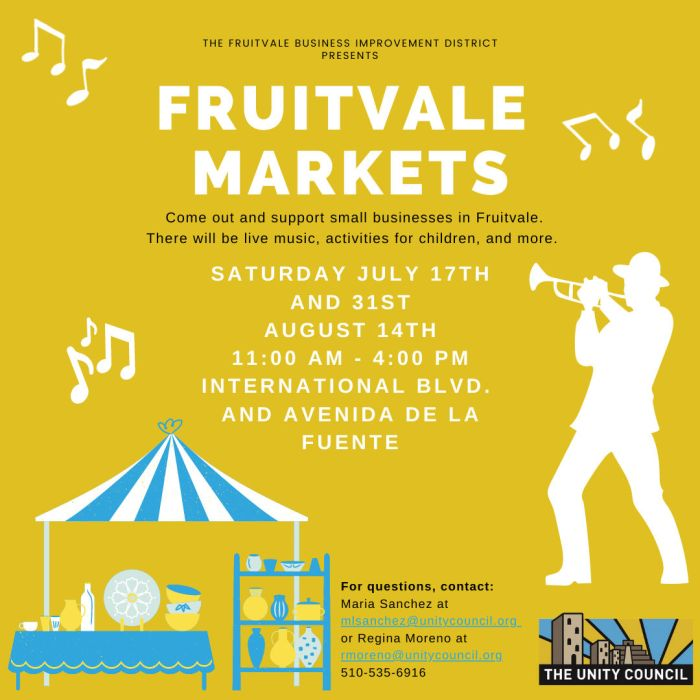fruitvale markets with childrens activities