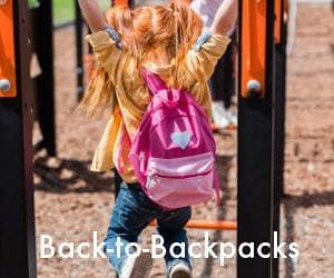 ad for backpacks