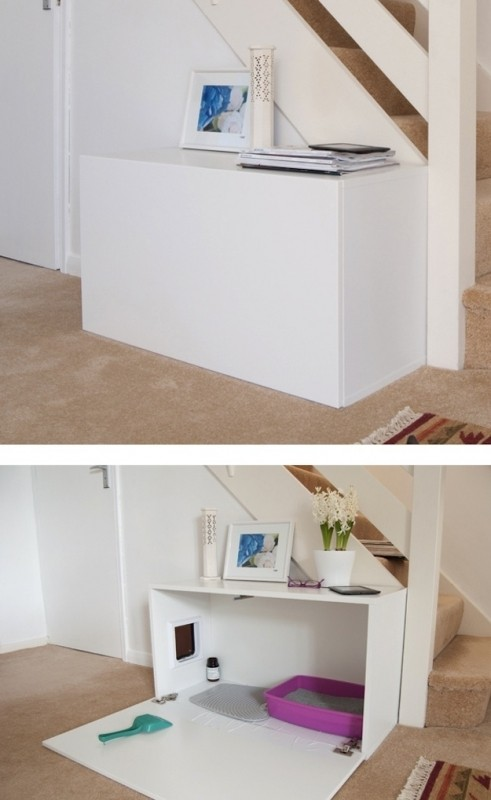 27-useful-diy-solutions-for-hiding-the-litter-box-this-one-is-my-favorite-because-it-would-also-be-easy-to-clean-my-cats-try-to-dig-to-china
