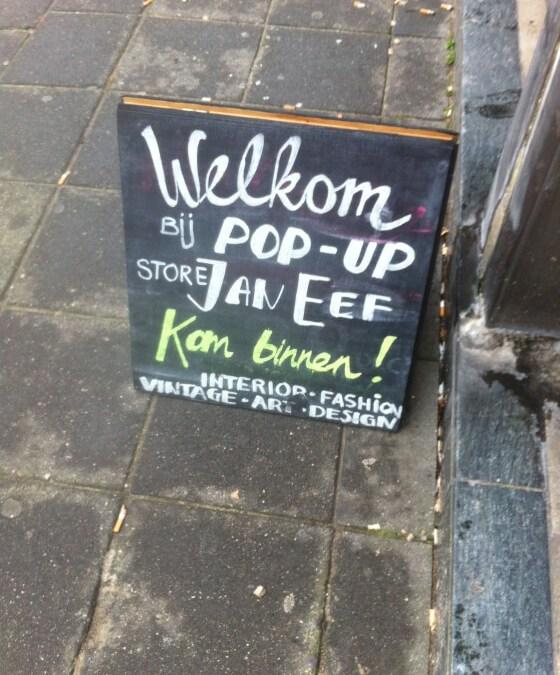 Pop Up Store Jan Eef