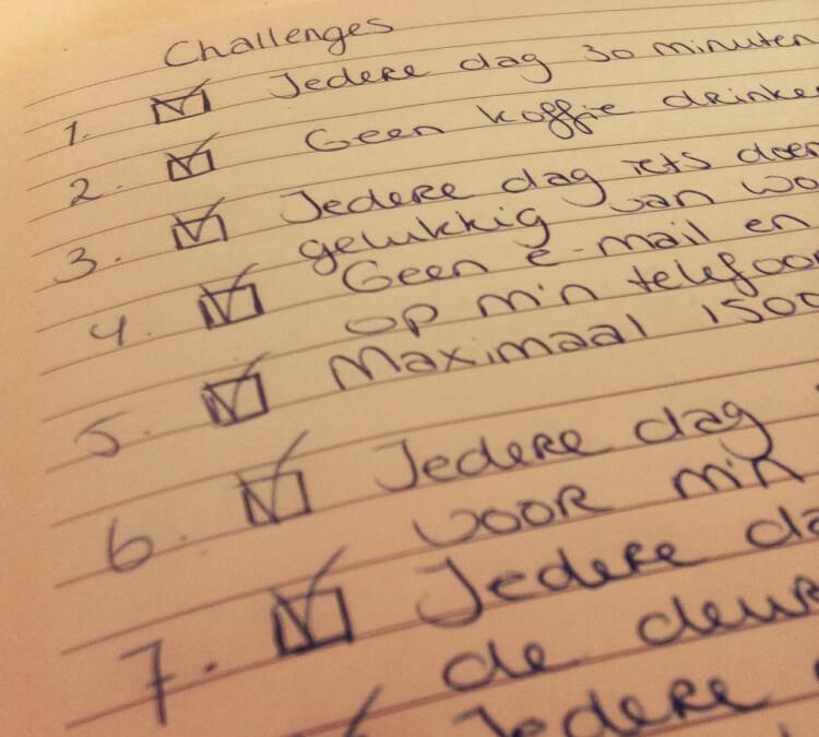 Bedenk Je Eigen Challenges