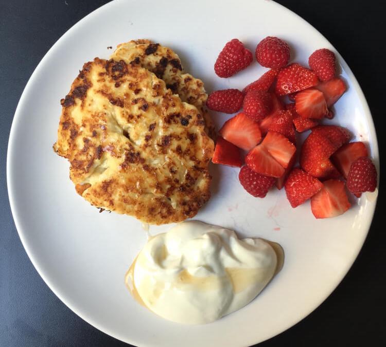 Ontbijtvariatie: Hüttenkäse Pannenkoekjes