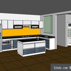 Complete Kitchen Cabinets St Petersburg 完整室内厨房su模型 Su模型下载草图大师模型 Skp模型 完整室内厨房su模型完整室内厨房su模型 1