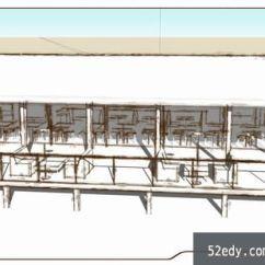 New Kitchen Sink Small Remodel Ideas On A Budget 山庄小餐厅su模型_su模型下载 草图大师模型_skp模型