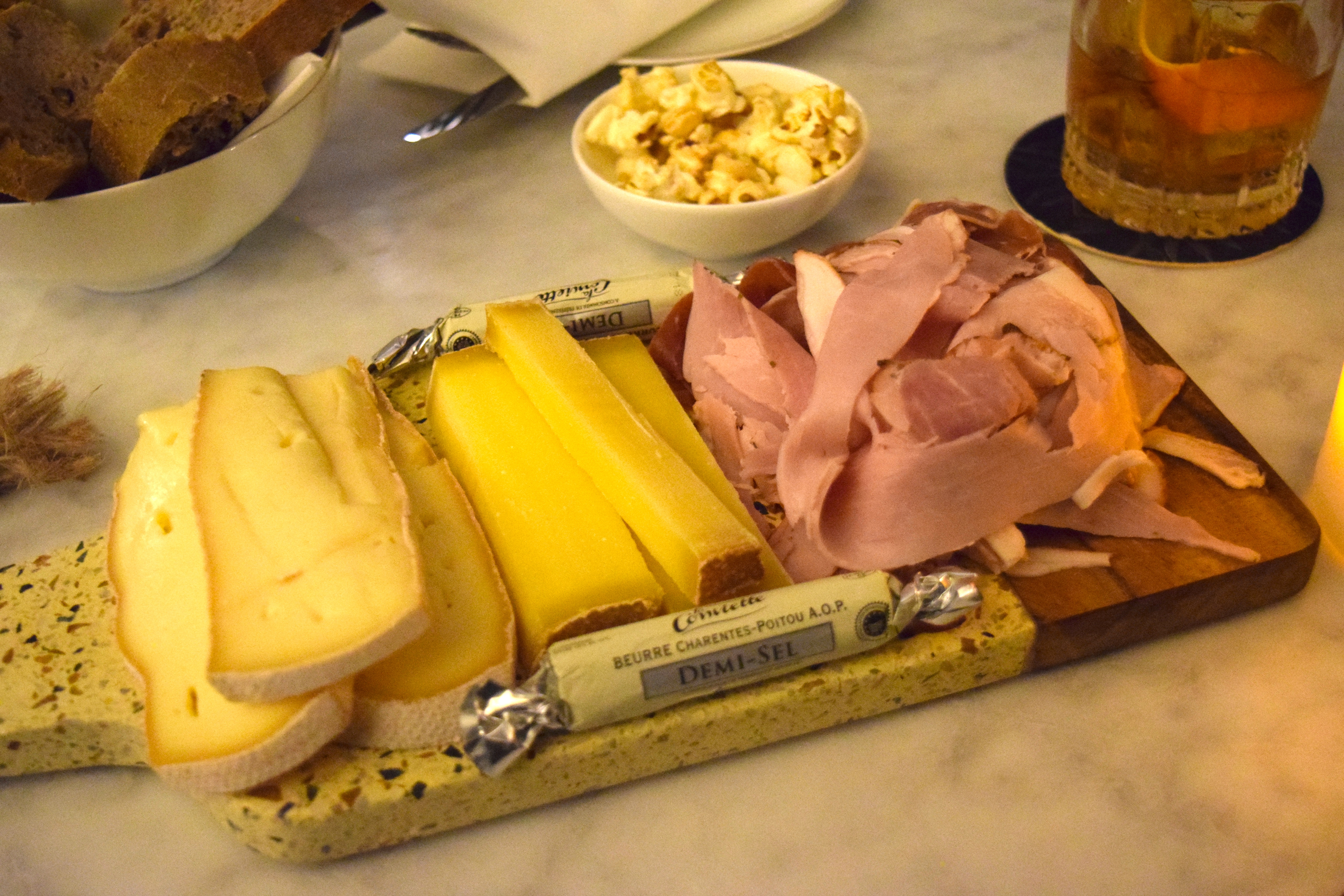Nice meat and cheese platter for a great price!