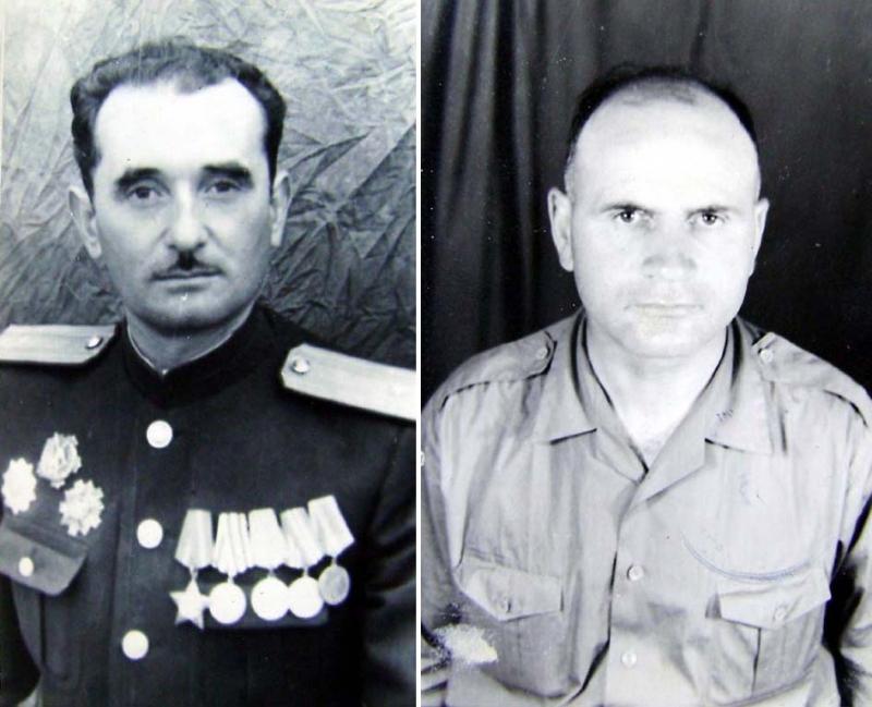 Në foto, komandanti Haxhi Gora dhe komisari Shahin Skura