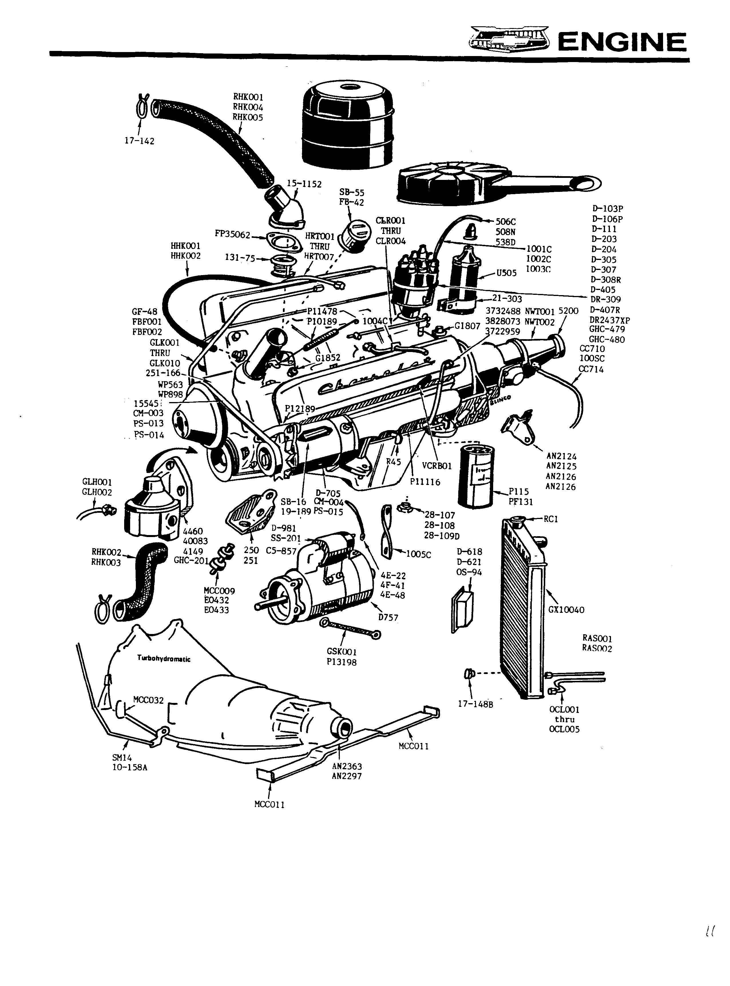 Chevy Engine Blueprints, Chevy, Free Engine Image For User