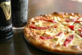pizza and guinness