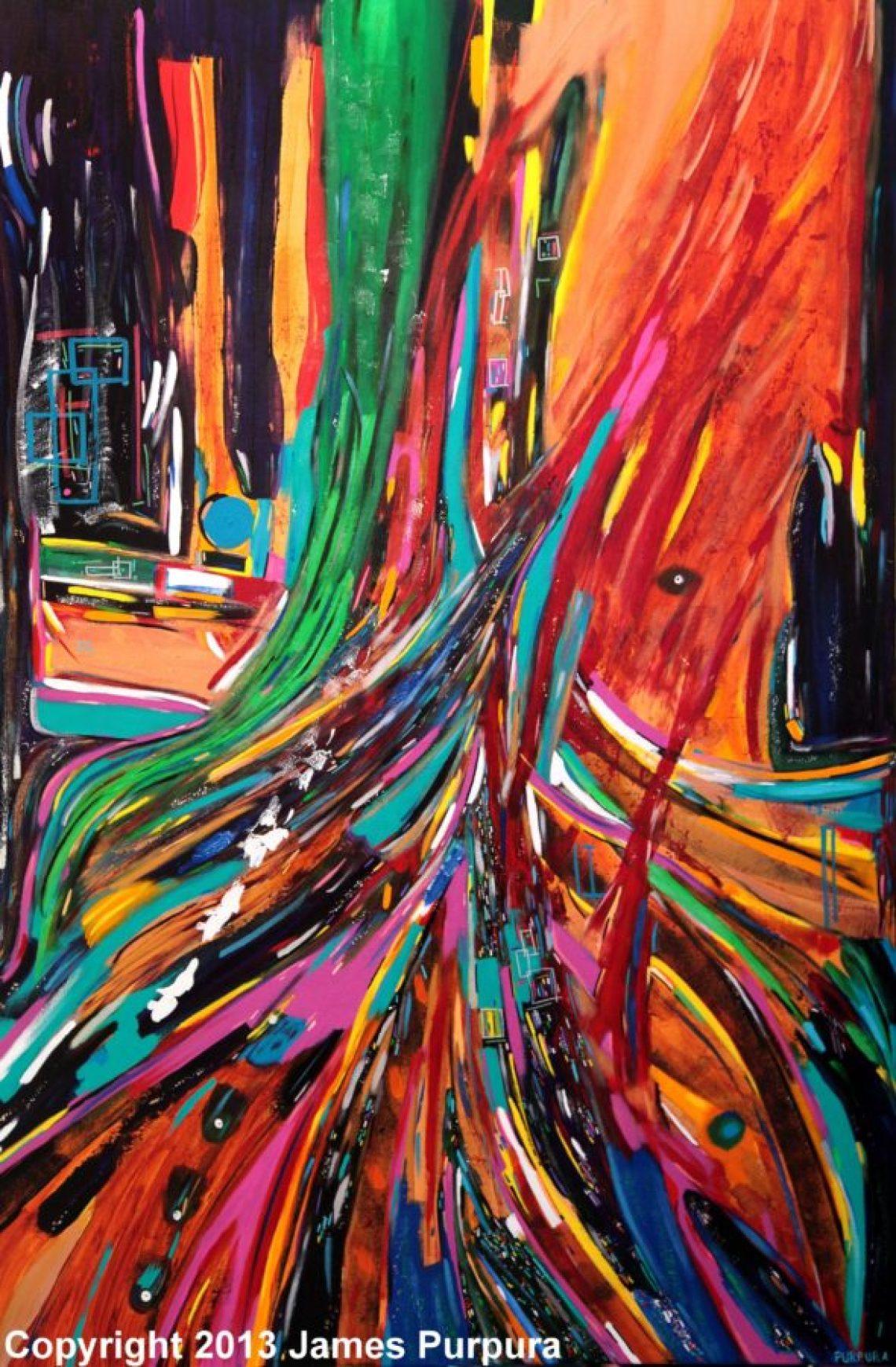 Heure de Pointe by James Purpura 100x150cm with Copyright
