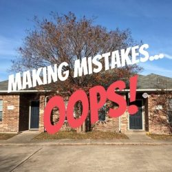 making mistakes real estate