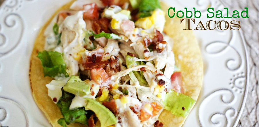 Overhead shot of a Cobb Salad Taco