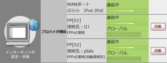RTX810 IPv6接続状況