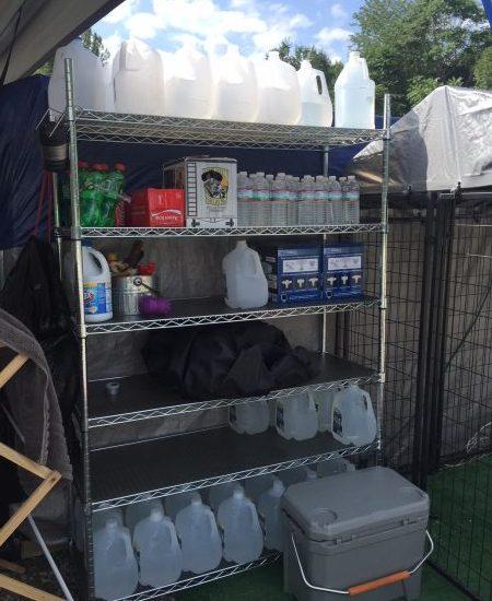 water shelf 5 dog farm