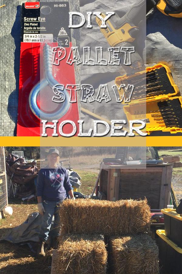 DIY Pallet Straw Holder 5Dog.Farm