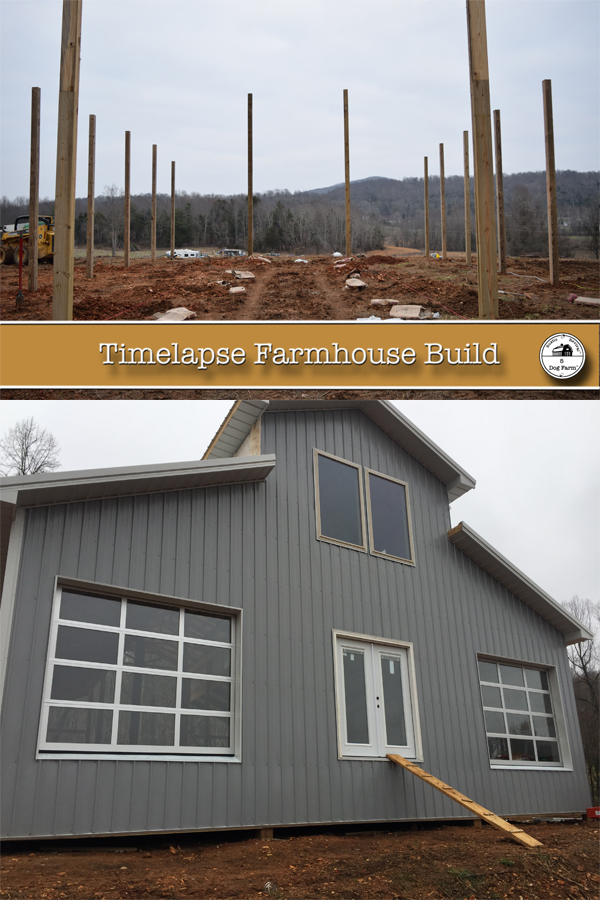 See our Farmhouse built in time lapse 5 Dog Farm