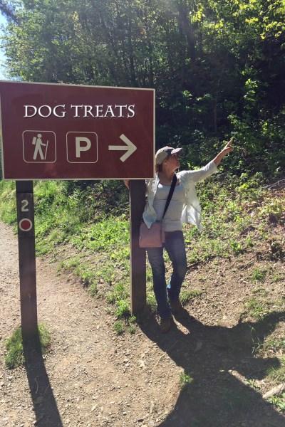hiker pointing in upward direction 5 dog farm