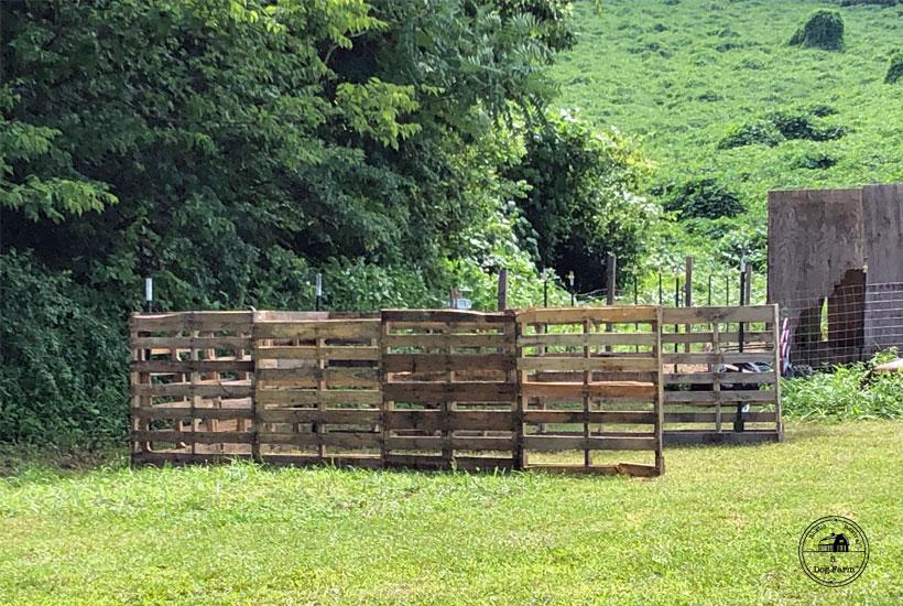 pallet frame for hay shed