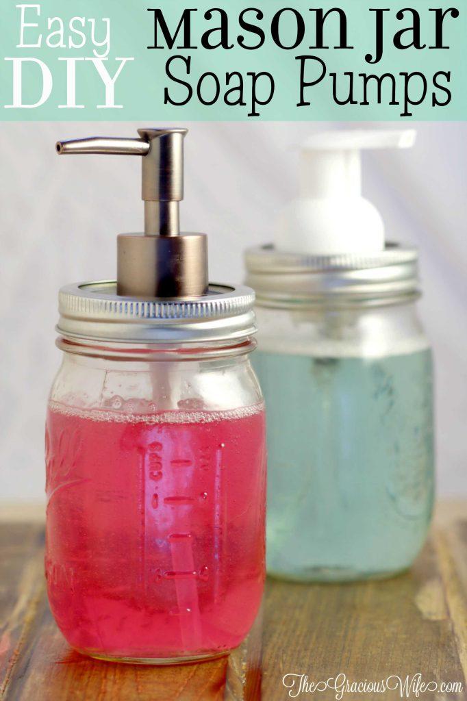 Mason Jar Soap Pumps