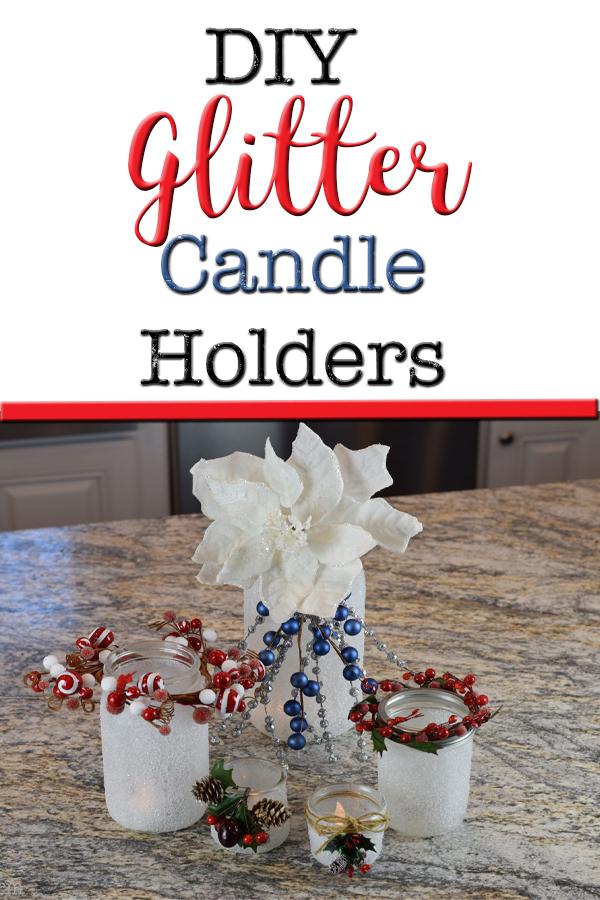 DIY Homemade Glitter Candle Holders 5Dog.Farm