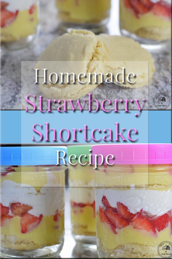 Easy Recipe for Mason Jar Strawberry Shortcake