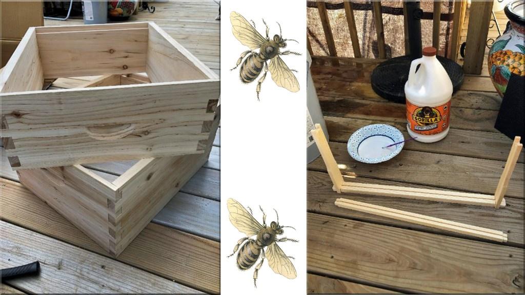 assembled bee super