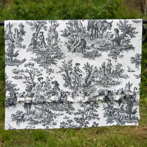 toile tea towel
