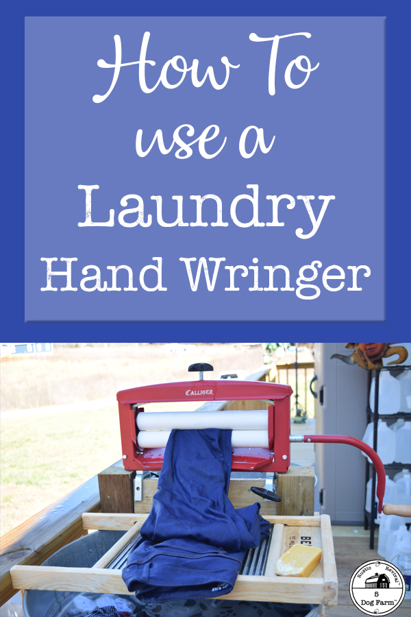 How To Use A Laundry Hand Wringer
