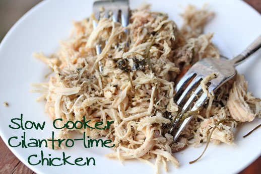Shredded Chicken Cilantro Lime Slow Cooker Cilantro Lime Shredded Chicken