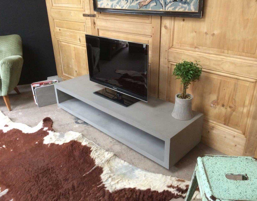meuble tv en beton
