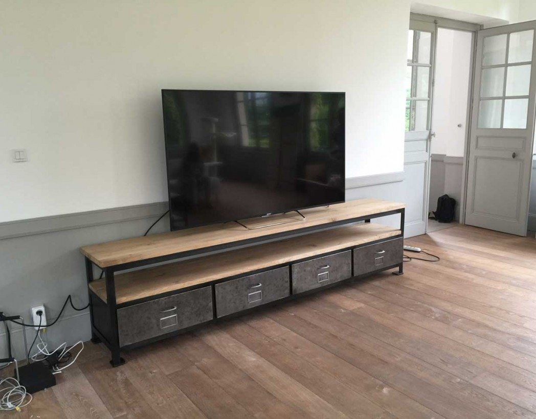Meuble TV Industriel XXL Cration