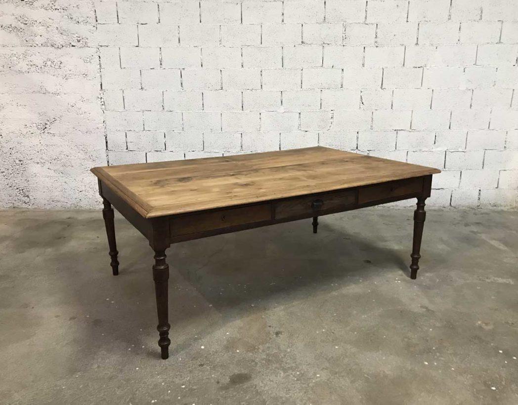 Ancienne grande table de travail 1930 de 200 cm