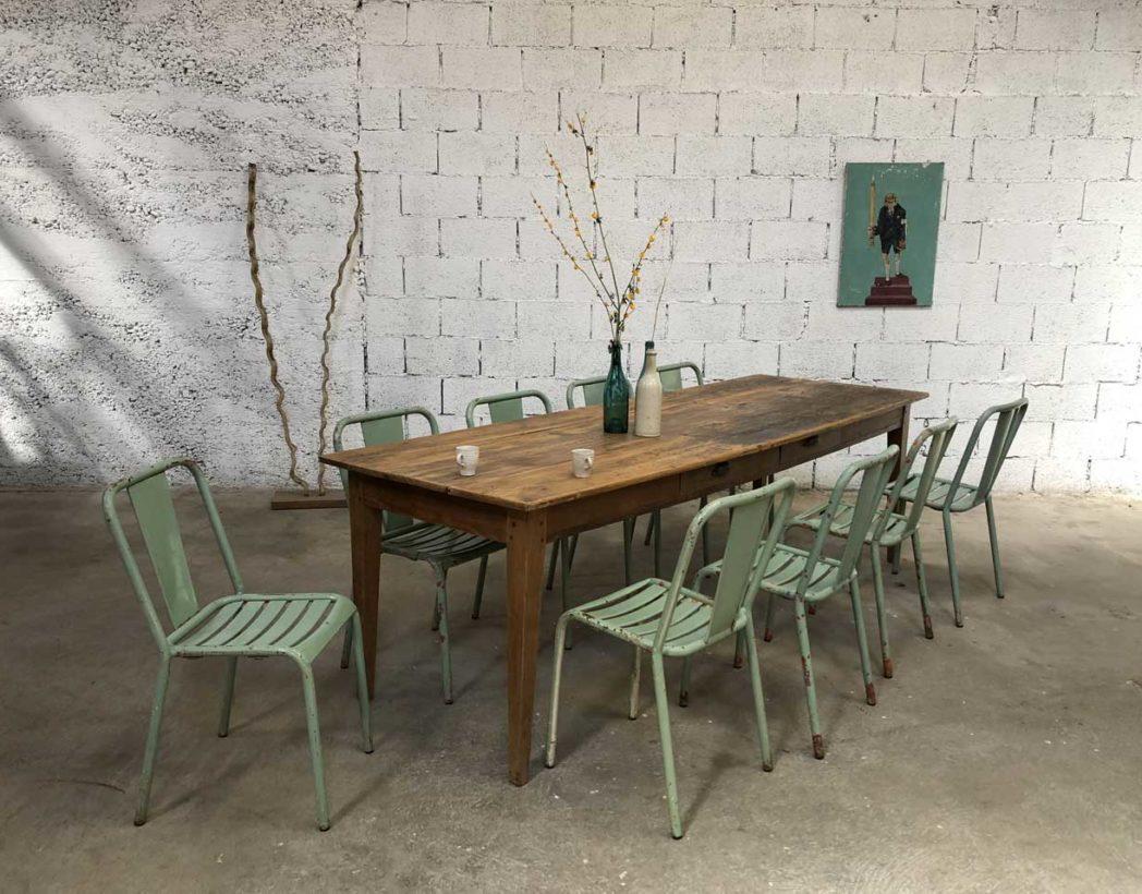 ancienne grande table de ferme 250cm