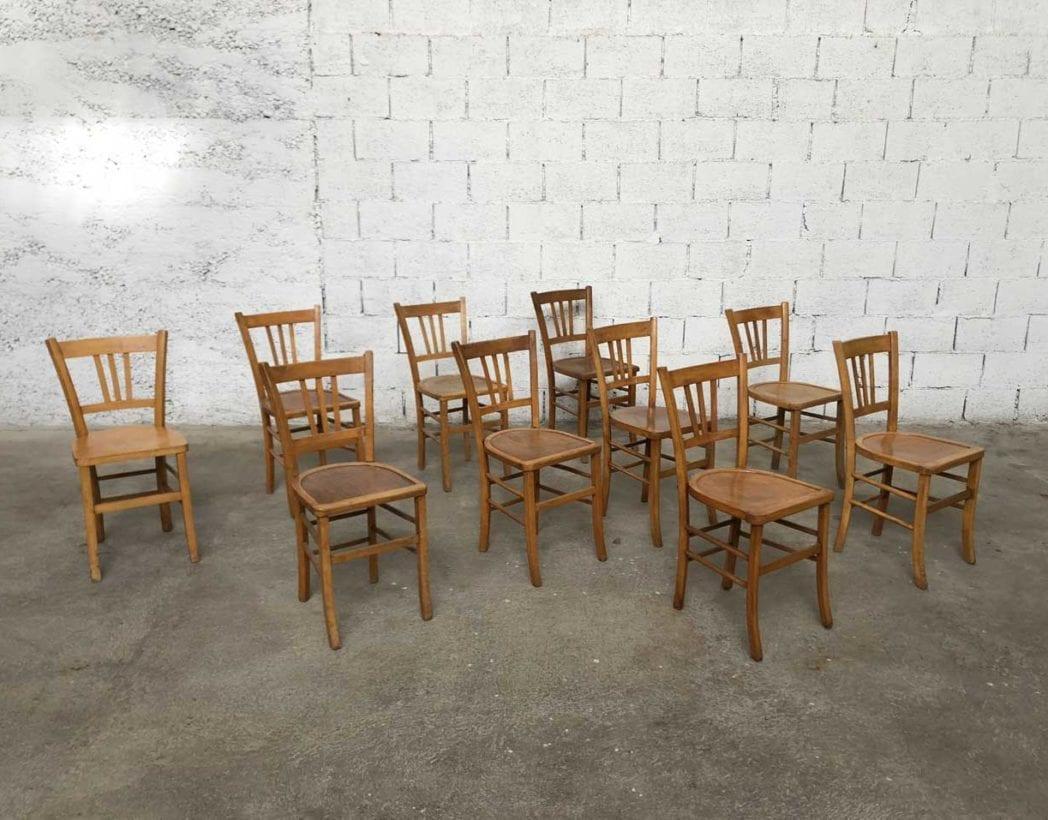 stock de chaises bistrot vintage luterma dossier petits barreaux