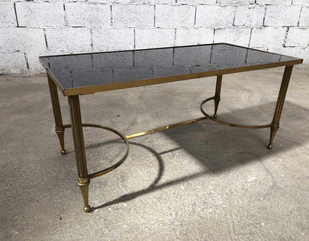 table basse vintage style maison bagues annees 50 longue 98cm