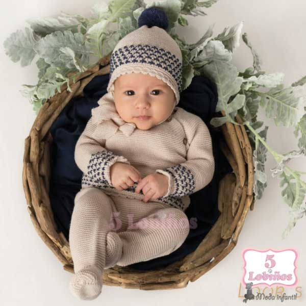 conjunto punto bebé polaina mac ilusion