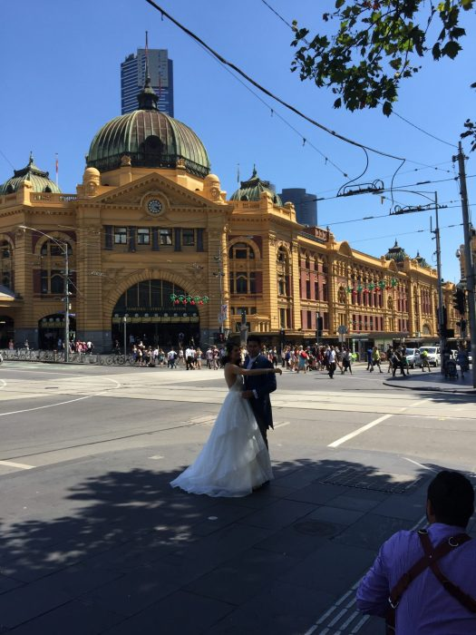 Federation Square wedding