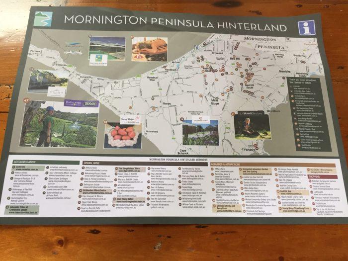 Map Mornington Hinterland