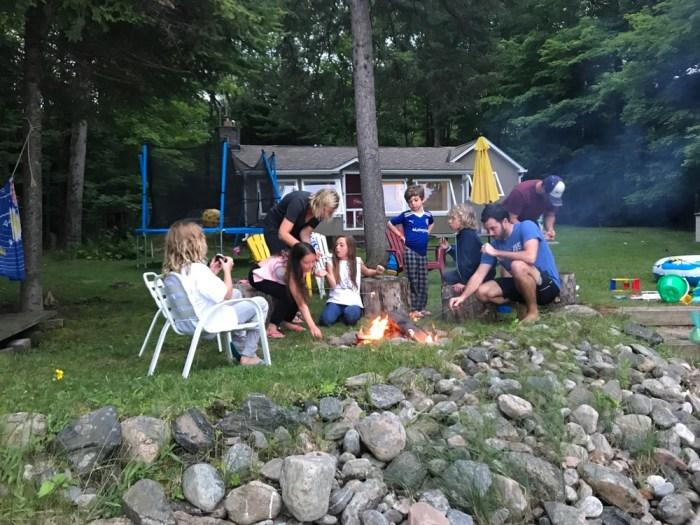 smores campfire