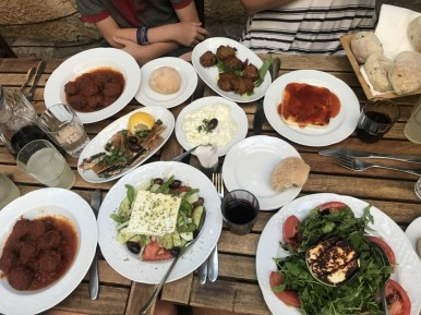 Greek food in Athens