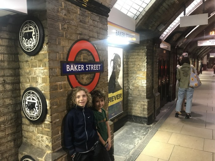 London tube with kids